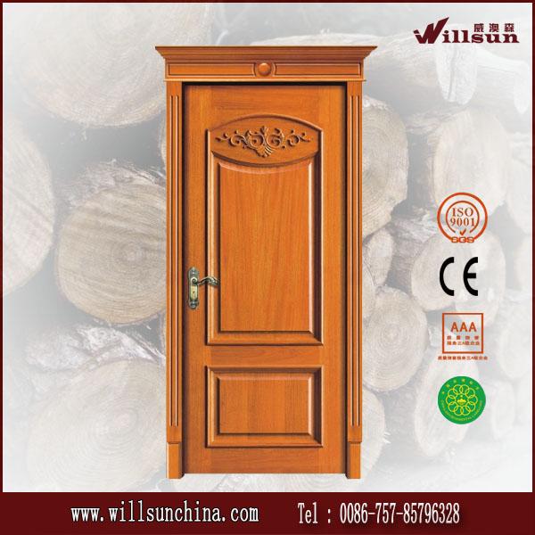 Dise o cl sico puerta de madera puertas para frentes de for Precio de puertas de madera para casas