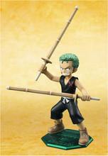 New Arrival Japanese Anime One Piece POP MILD Kid Child Roronoa Zoro 11cm PVC Action Figure