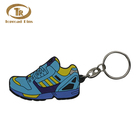 Wholesale Cheap Price Custom Soft PVC Rubber Shoes Shaped Keychain Metal Key Ring
