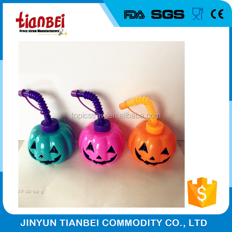 pumpkin plastic kids bottle halloween decorations for party