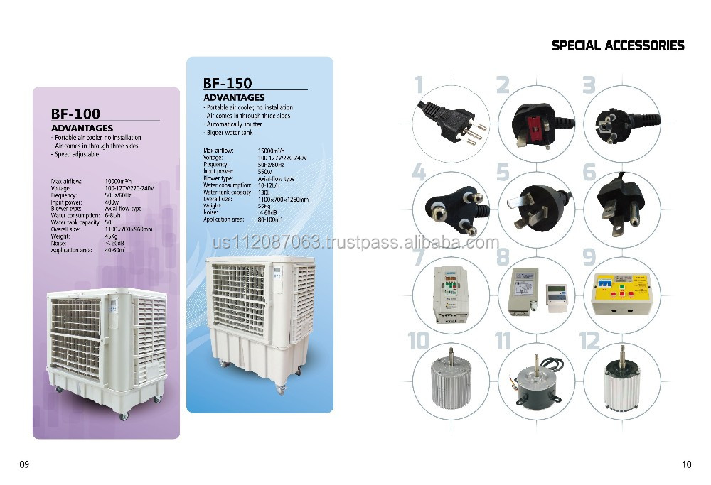 China And Usa Manufacturer Evaporative Air Cooler Portable Ce Ul ...