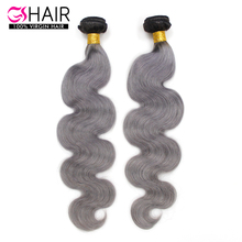 Real attractive brazilian hair body wave gery ombre braiding hair
