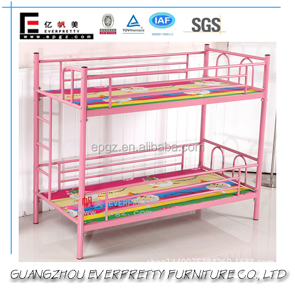 Pink Color Cheap Adult Metal Frame Bunk Beds for Queen used