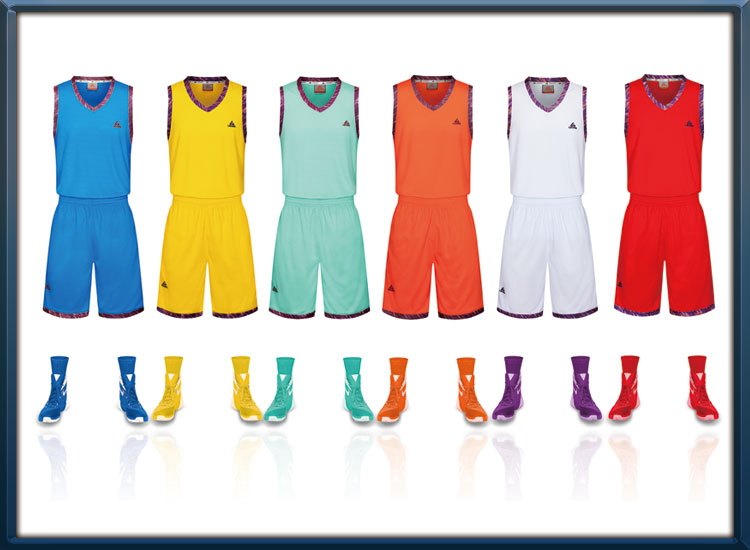 high quality sublimation basketball jersey uniform design color blue wholesale sportswear