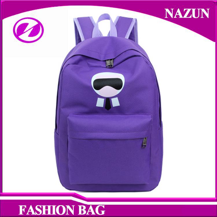 2016 New Arrival purple colors fashion girl canvas backpack bags for sport travel <strong>school</strong>