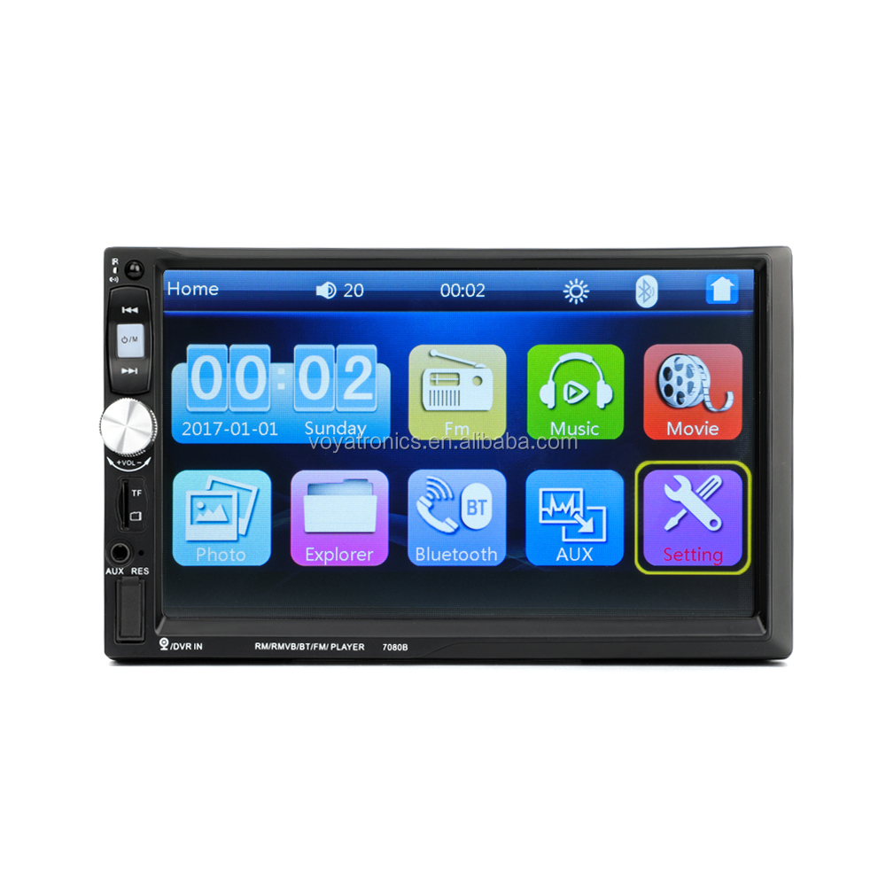 2 Din Car Radio Mp5 Car Video Player 7 Hd Touch Screen Bluetooth