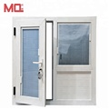 double pane aluminum frame glass windows with blinds