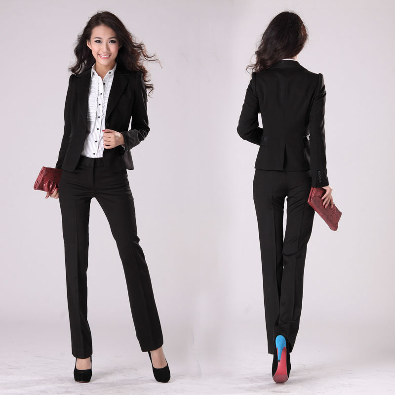New Style Office Lady Suit Women Hot L091605 Black Slim Fit Product On Alibaba