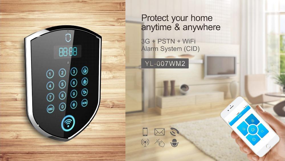 Wifi Pstn 3g Wireless Security Alarm With Touch Keypad Yl