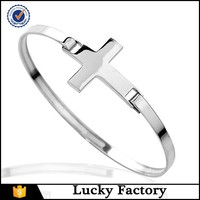 Imitation simple fashion jewelry faith hope love with cross bracelet