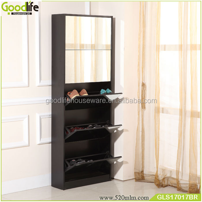 Living Room Luxury Cabinet High Gloss Shoe Cabinet With Mirror Cover Part 93