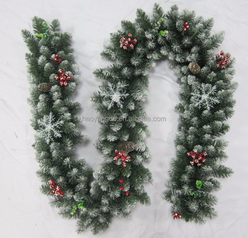 Christmas Plastic Decorative Artificial Bulk Snow Garland