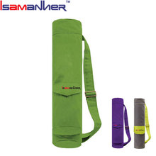 Isamanner customize canvas waterproof yoga mat bag, cheap yoga mat with bag