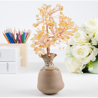 Creative ceramic vase powder crystal tree decoration for home