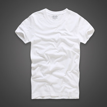 100% cotton plain white mens cheap custom logo blank mens t shirt