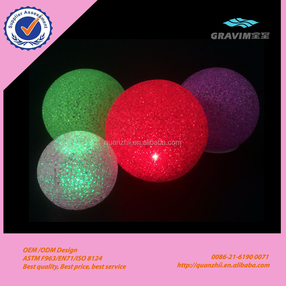 Creative crystal EVA led flash bouncing ball light up toy with variety color for promotion