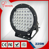 BLACK 10INCH 225W SPOTLIGHTS ROUND LED SPOT DRIVING LIGHTS UPGRADED 5W LED