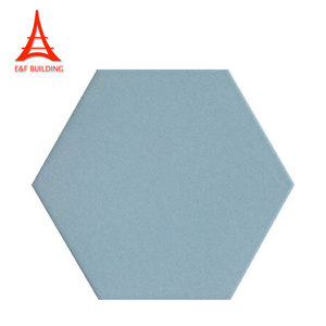 Custom made restaurant floor wall tiles different solid color decorative hexagon ceramic tile