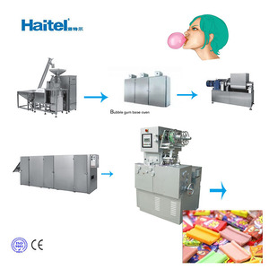Automatic chewing bubble gum ball forming manufacturing machine
