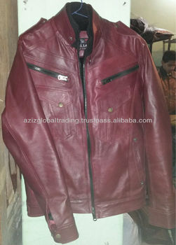 Cherry Red Leather Jacket Buy Pure Leather Jacket Mens Leather