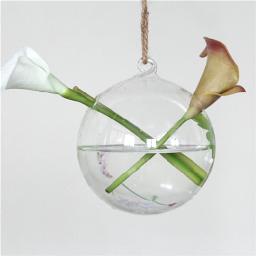 Agujero de vidrio maceta wedding adornos bola de cristal vidrio transparente maceta colgante - Vidrio plastico transparente precio ...