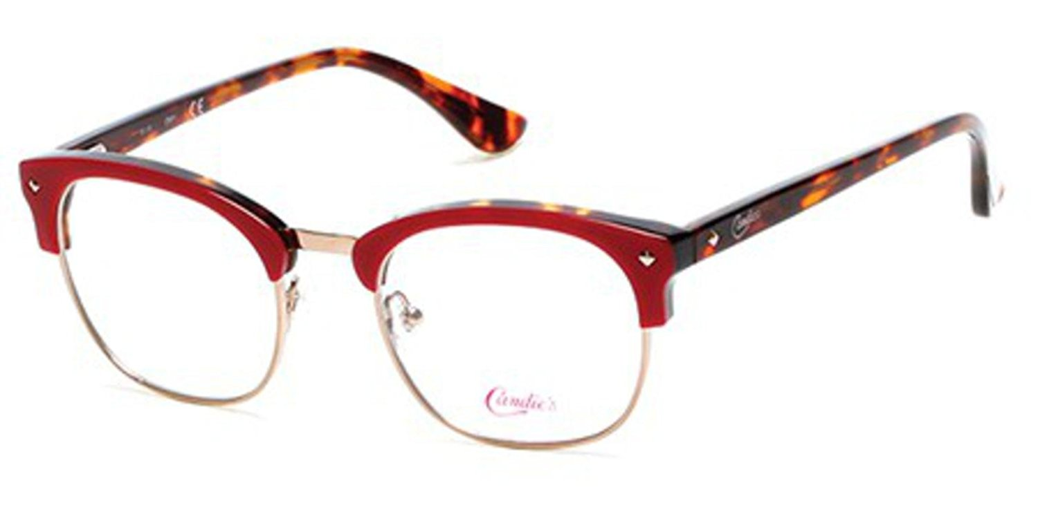 939d8a40f1 Get Quotations · Candies CA0140 Eyeglasses 48 066 Shiny Red