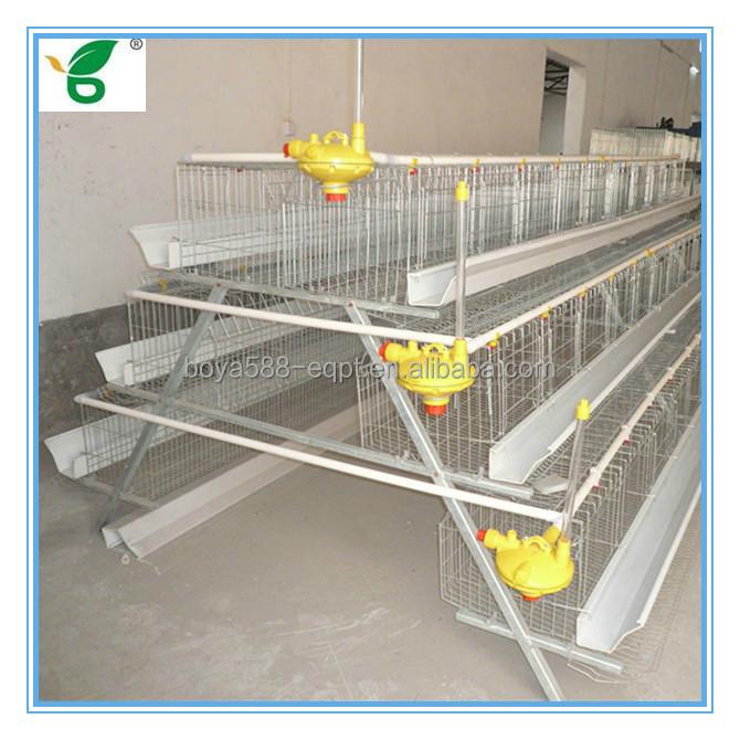 A Type Q235 Galvanized Uganda Chicken Farm Cage With