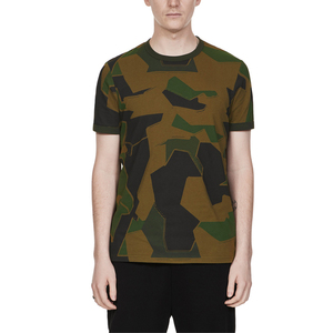 Wholesale mens fashion colorblock camo t shirts custom tee shirt bulk