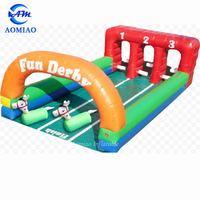 2019 bouncy inflatable ony hop racing game, ride on inflatable jumping horse racing