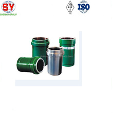 Oilfield mud pump spare parts,mud pump liners, high chrome bimetallic liner and zirconia ceramic liner