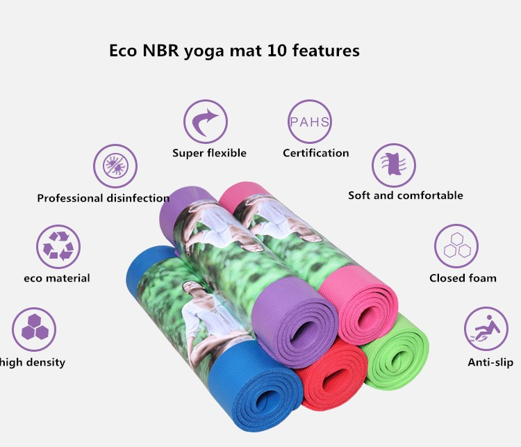 Eco Amical Type Imprimé Yoga Tapis