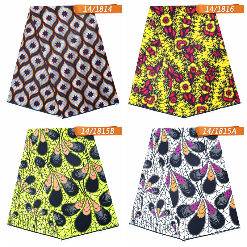 Wholesale african fabric fashion block java wax 100% cotton printed fabric