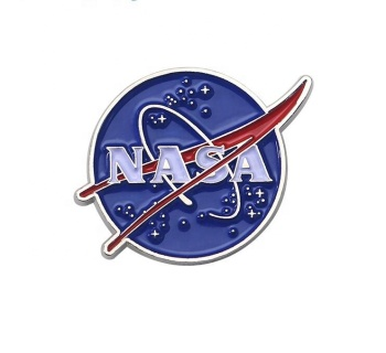 Wholesale Custom Zinc Alloy Hard Enamel Lapel Pin NASA Pin Silver Plating Metal Badge Manufacturer