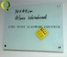 tempered glass white notice board for writing