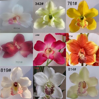 Cymbidium Orchid Artificial Flowers Wall Hanging for Wedding Decor