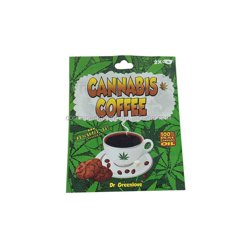Custom printing switzerland smoking weed zipper bags for seed