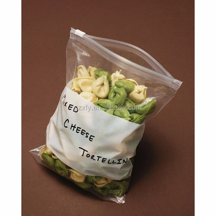 Wholesale Price Transparent Plastic PE Food Bag with Zipper for Storage Vegetables