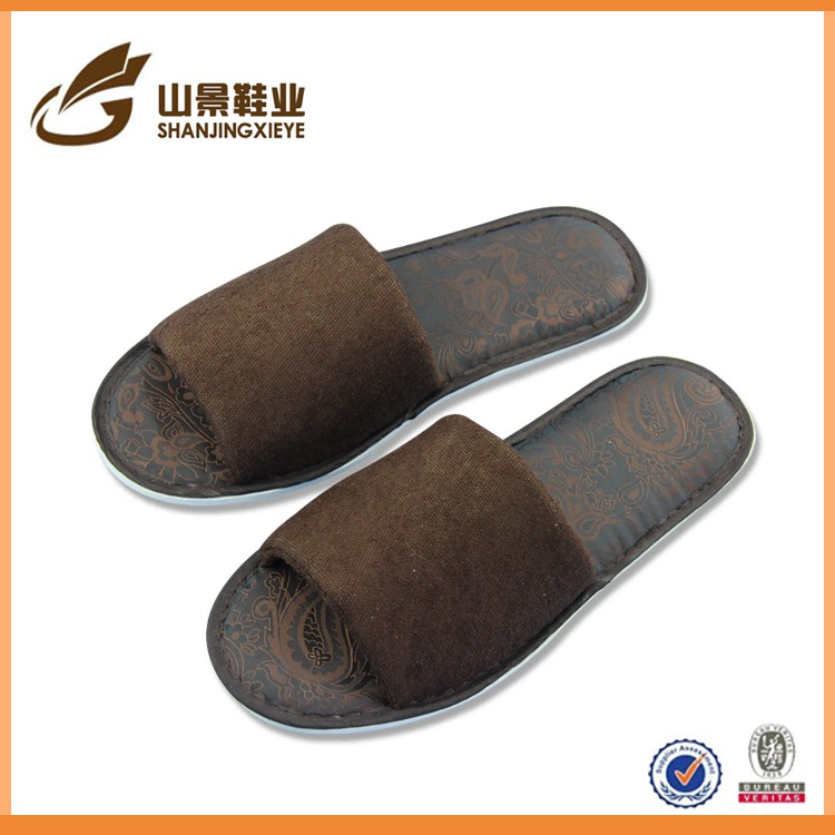 Low price terry indoor men slippers wholesale import slipper China