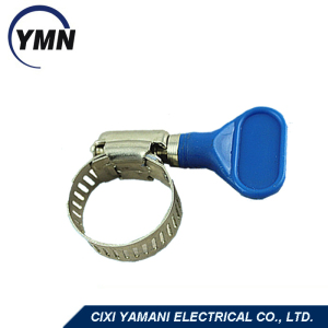 Zinc Plated Plastic Thumb Screw Hose Clamp