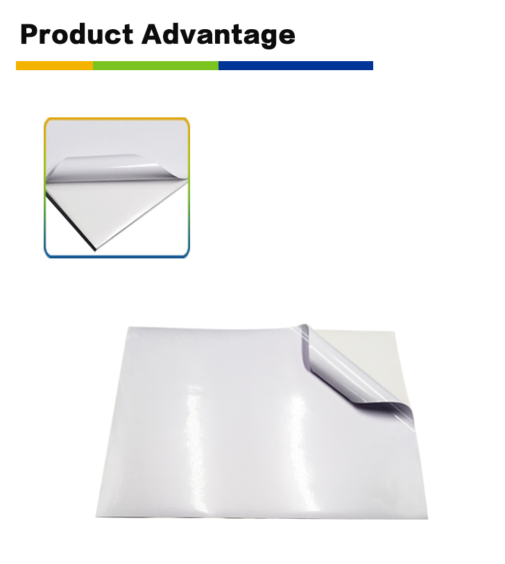 Waterproof Vinyl Glossy White PVC Sticker Label Film Self Adhesive PVC Film for printing