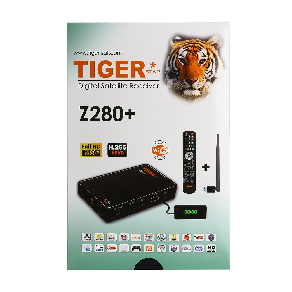 Tiger Z280+ Support Software Online Update <strong>media</strong> player with One Year IPTV Account IPTV <strong>Box</strong>
