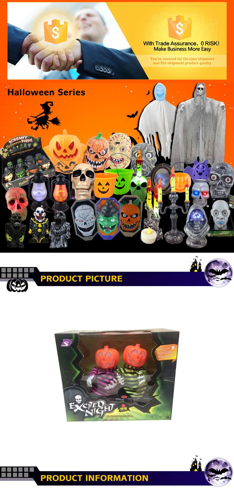 Halloween electric dancing pumpkin toys