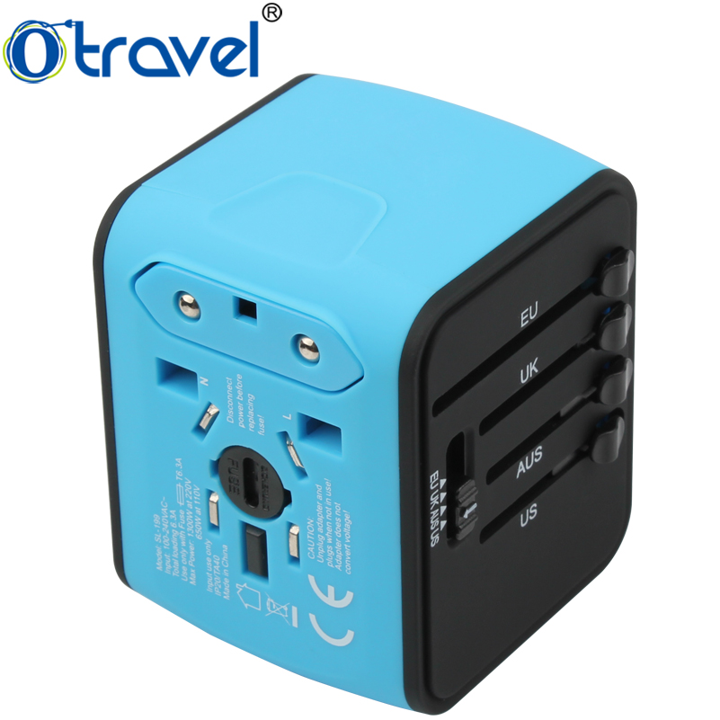 Alle-in-een universal world travel adapter/universele multi travel smart adapter voor promotie