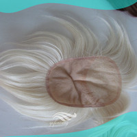 White Human Hair Replacement Pieces for Men Manufacturer