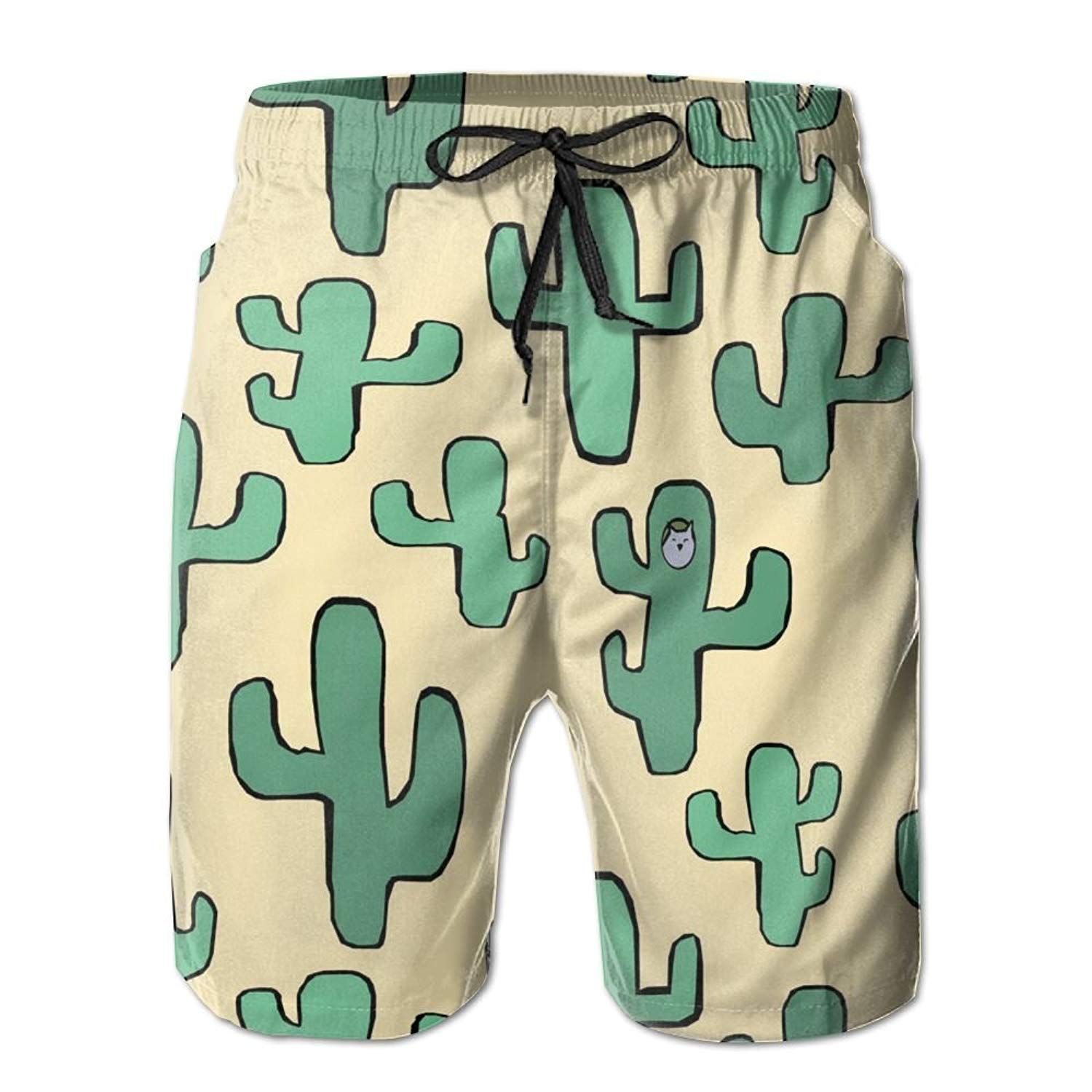 EYBFHUO Swim Trunk Relaxed Male Cartoon Animals Beach Shorts Swimwear.