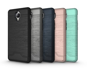 Shockproof Hybrid Combo Hide Credit Card Back Cover Phone Case For One Plus 3