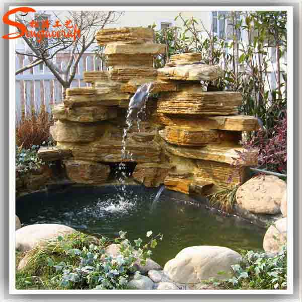 Outdoor Plastic Garden Stone Water Fountain Factory Sales Garden Fountain  Cheap Wall Water Fountain Garden