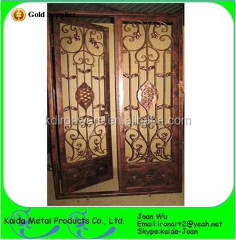 Beautiful Wrought Iron Door Grills Design - Buy Wrought Iron Door Grill  Designs,Wrought Iron Grill Designs,Ornamental Iron Door Grills Product on