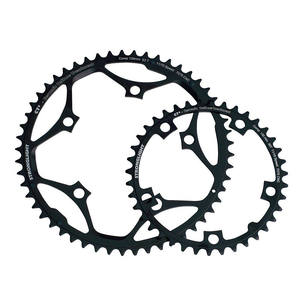 Stronglight CT2 Ceramic Teflon Black 130mm Shimano Standard Chainring - 52T (272610)