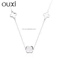 OUXI Fashion 925 sterling silver necklace jewelry 2015 Y10029